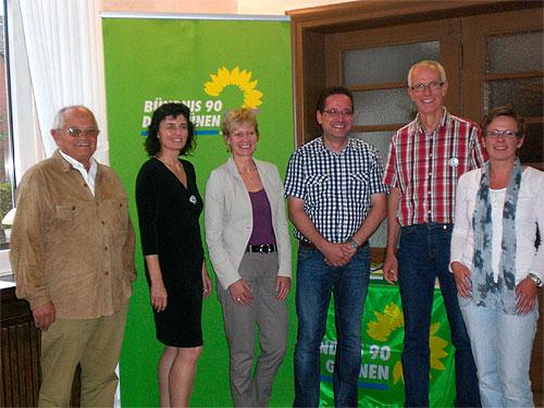 von links nach rechts: Walter Vogelsang, Iris Lichtenthäler, Maria Klein-Schmeink, Ralf Borgers, Jörg Vogelsang, Dagmar Beckmann
