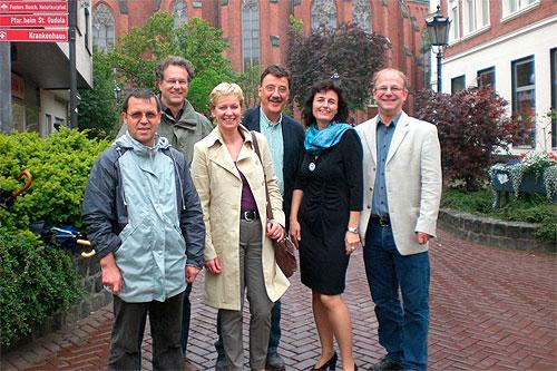 von links nach rechts: Hermann Thomas, Reinhold Störkmann, Maria Klein-Schmeink, Lothar Mittag, Iris Lichtenthäler, Theo Hartmann